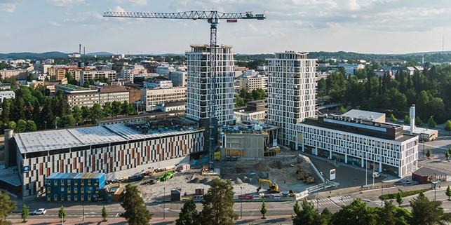 Rakennusteollisuus RT:n suhdannekatsaus 25.11.2020: kuvassa rakennustyömaa