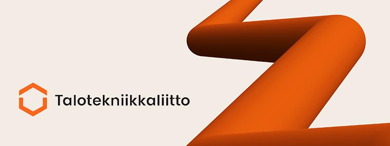 Talotekniikkaliiton logo kuvataustalla
